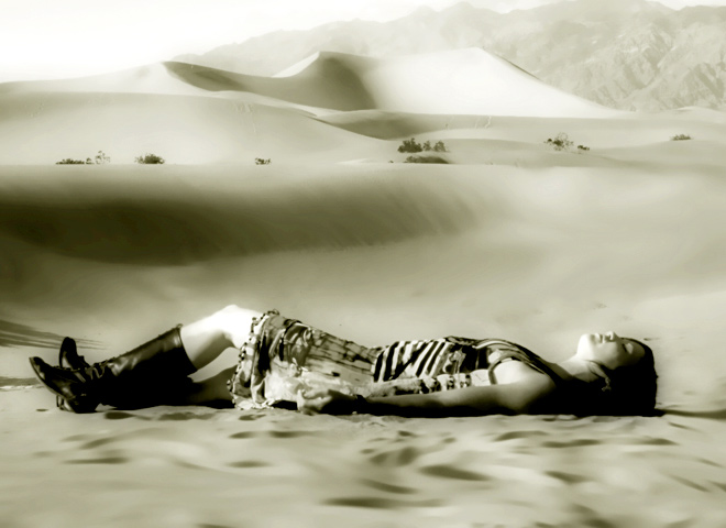 Sleeping and mirroring the sand dunes